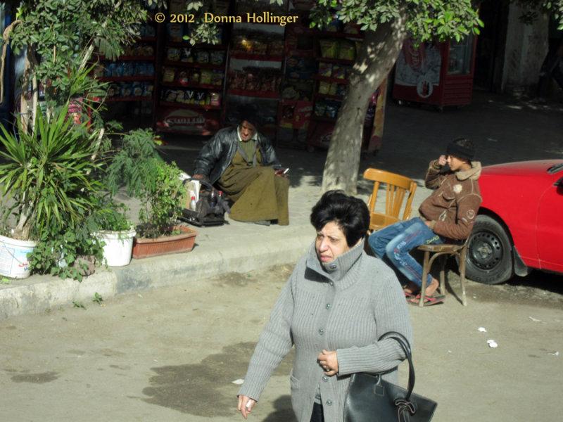 Woman Pedestrian without Veil