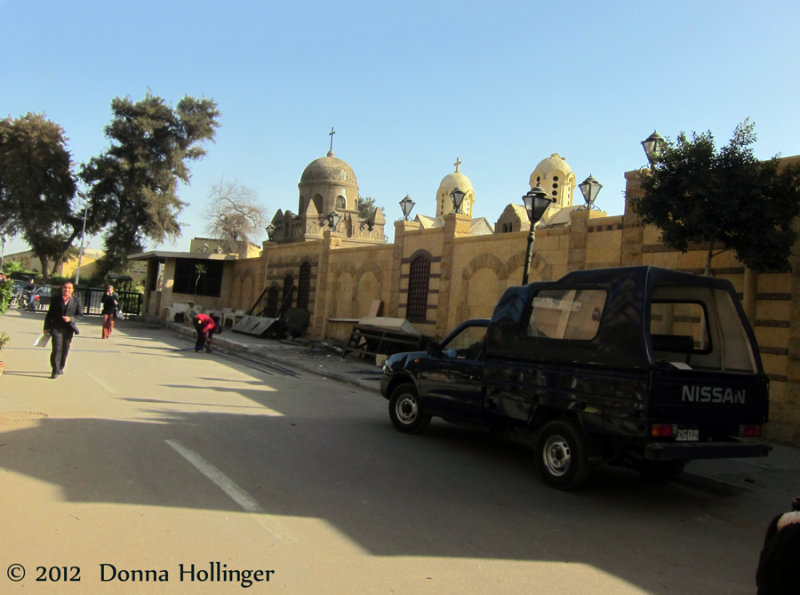 Approaching the Coptic Church and Mosque