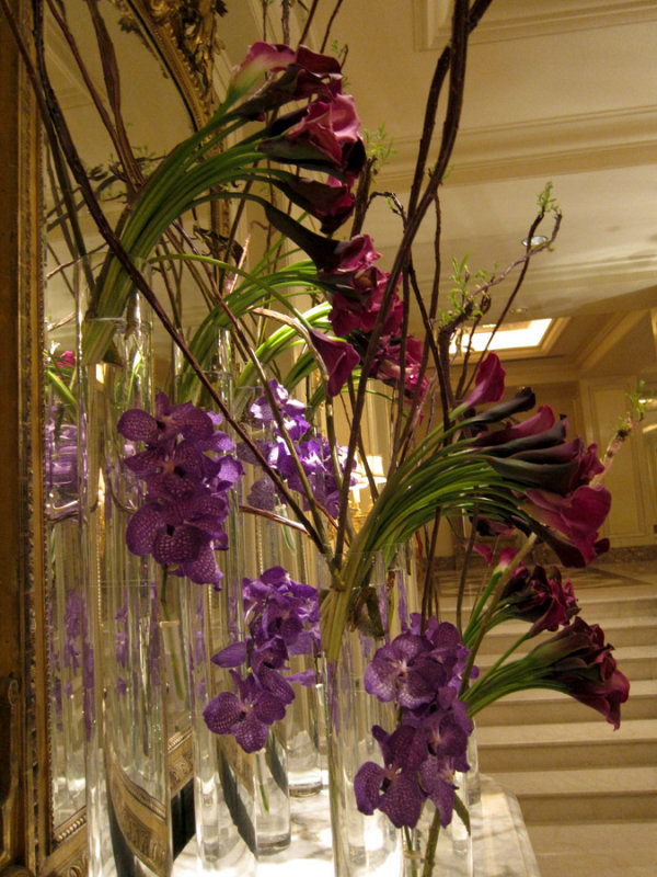 Four Seasons Hotel, Orchids and Lillies in the Lobby