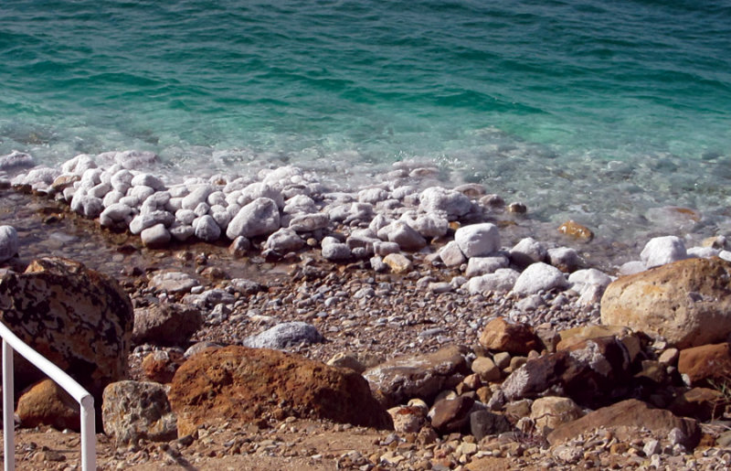 Sodium Chloride drying on the rocks
