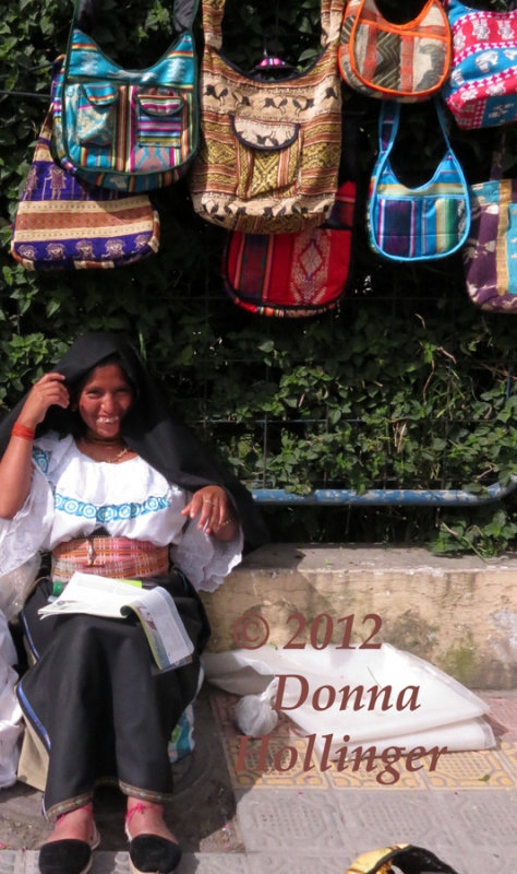 Big Smiles from the Handbag Vendor!