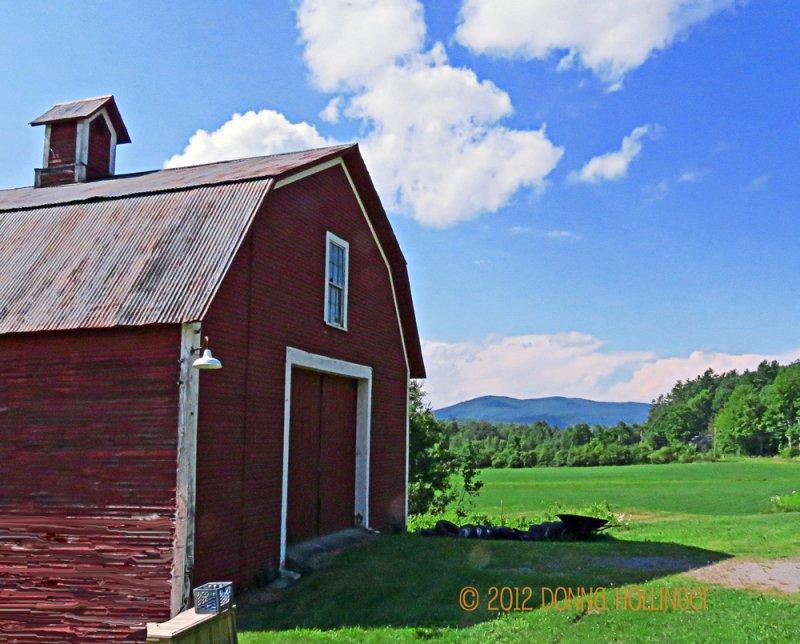 Big Red Barn and Sky