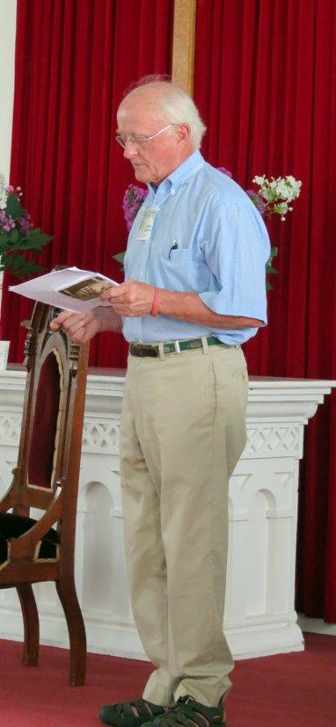Stuart Johnson introducing the CCV Talk