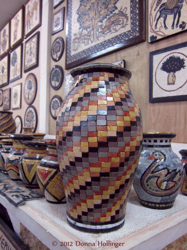Tiled Vase handmade at a Workshop in Jordan