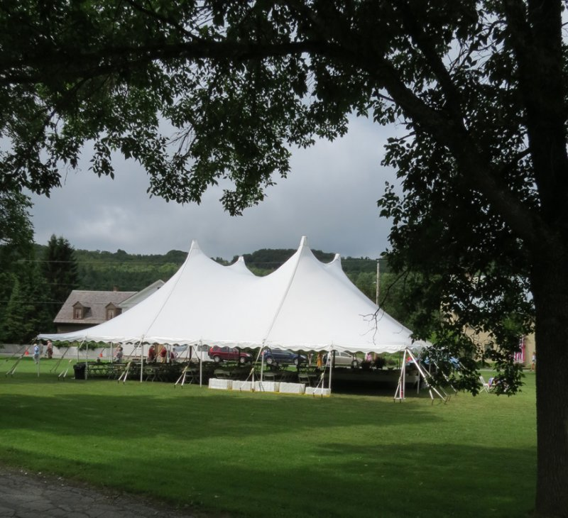 We had a Tent on the Green for Lunch and Dinner