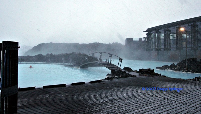Blue Lagoon In Snow