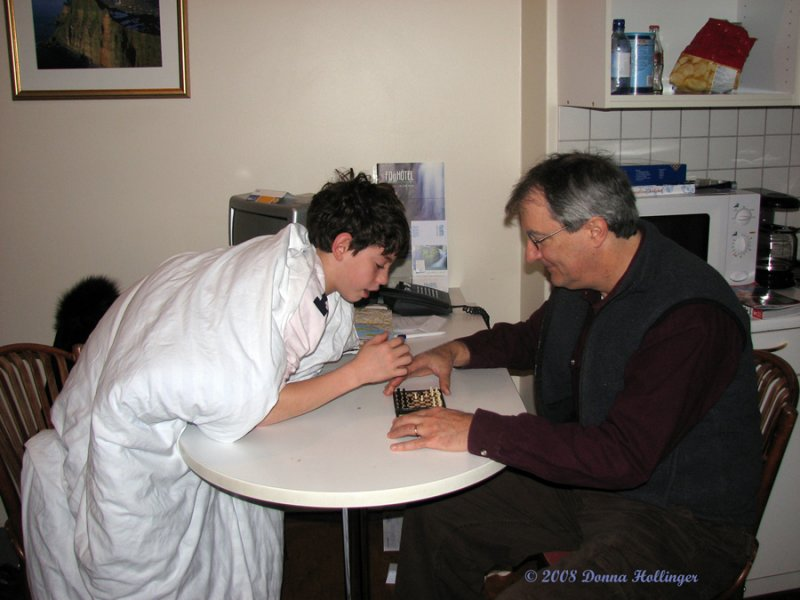 JonCarlo Playing Chess With Uncle Peter