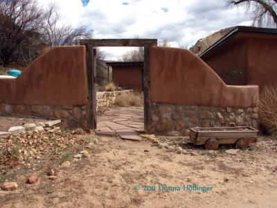 Backyard of Ghost Ranch