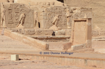 Horus Statuary at Abu Simbel