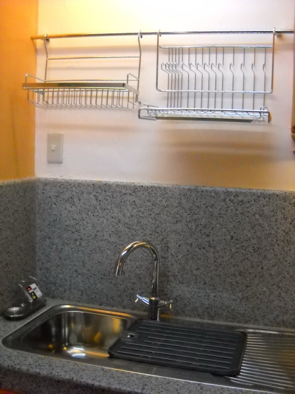 Kitchen Sink And Wall Hanging Stainless Steel Dish Rack
