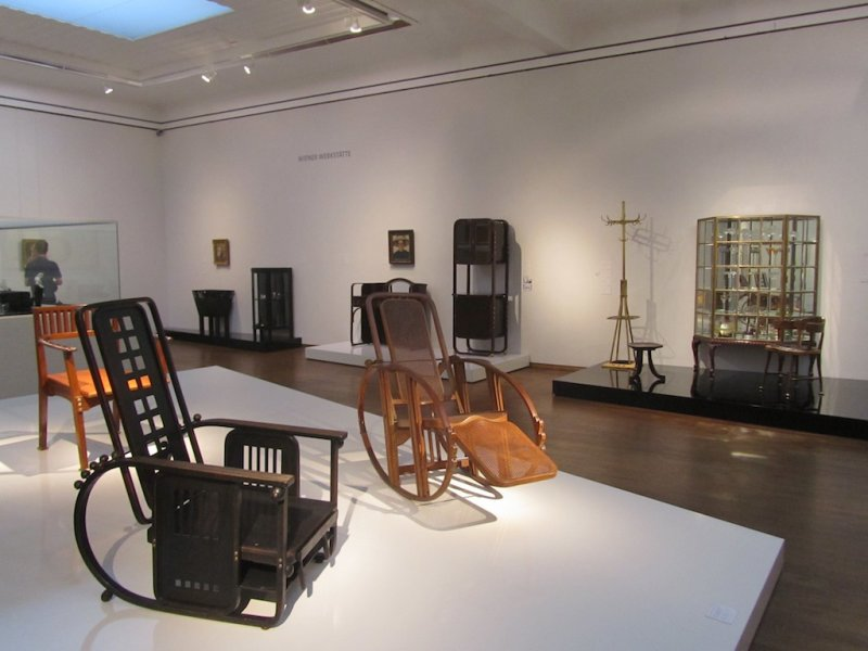 a small collection of furnishings by the Wiener Werkstatte