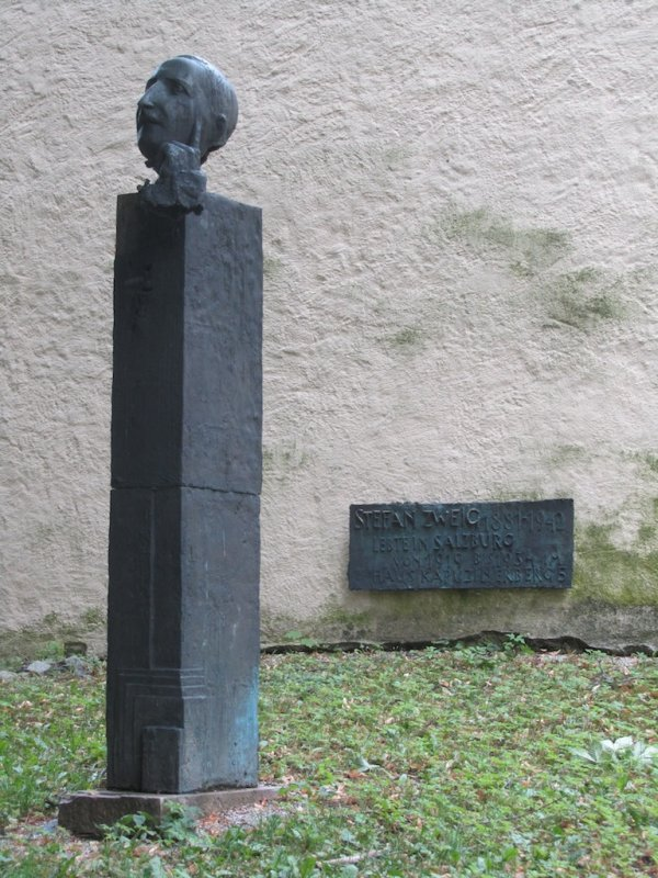 a memorial to Stefan Zweig, one of Marlas favorite authors