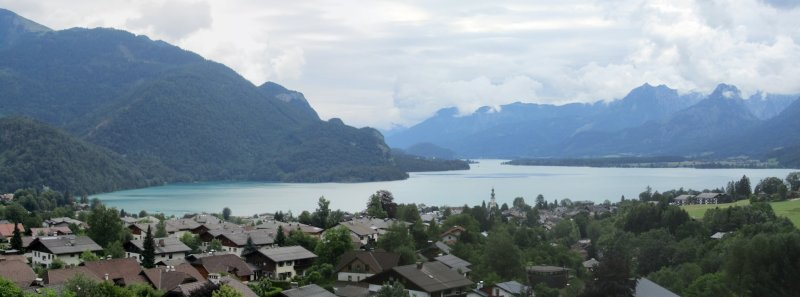 panorama: St. Gilgen and the Wolfgangsee