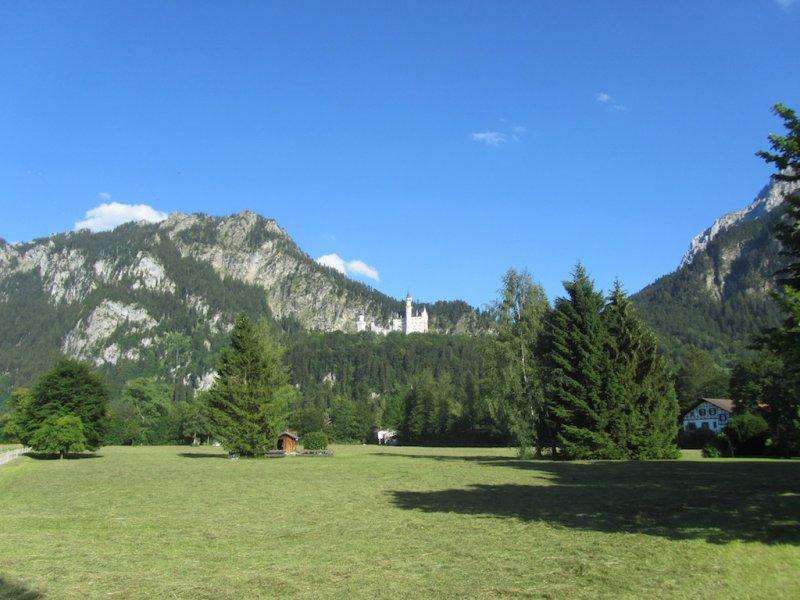 in the distance, Ludwig IIs Neuschwanstein castle