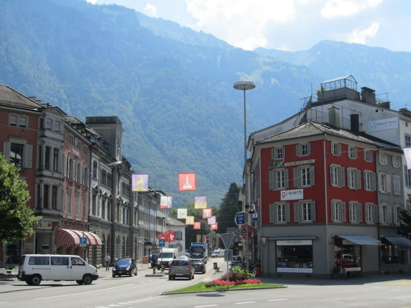 now heading south, we stop in the old town of Glarus