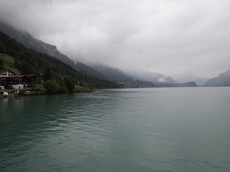 the next day, with overcast skies, we head toward Interlaken and the Brienzer See
