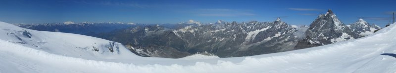 panorama: from Klein Matterhorn
