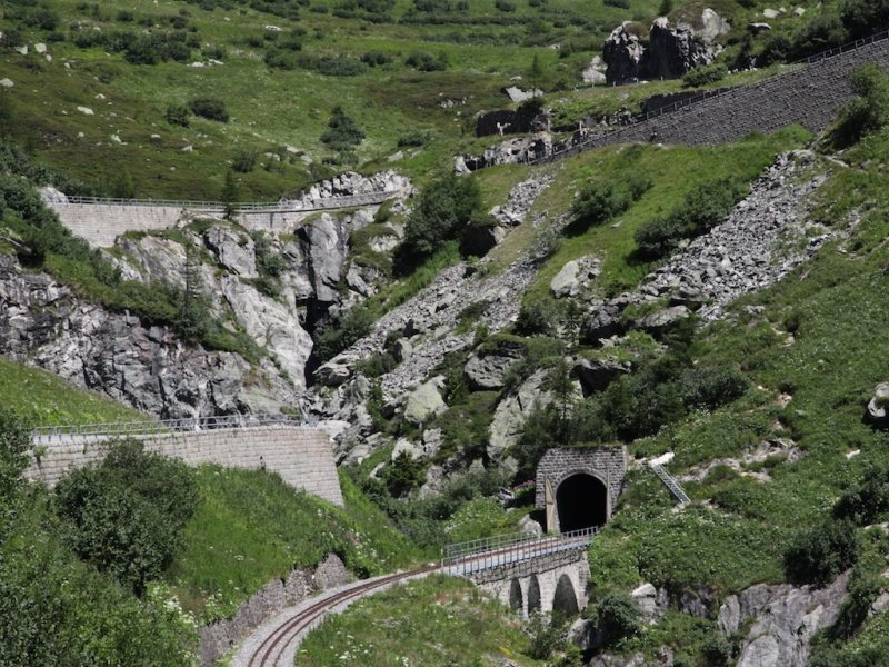 ...we follow the route of the Glacier Express train