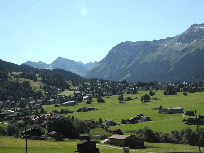 ...near Klosters and Davos
