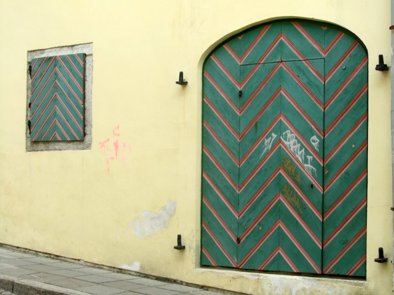 colorful doors are a strong feature of this city