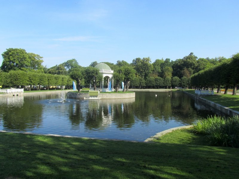 in the Kadriorg park, once the presidents palace grounds