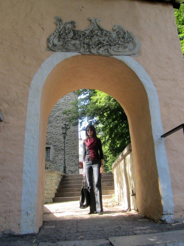 near the upper city wall