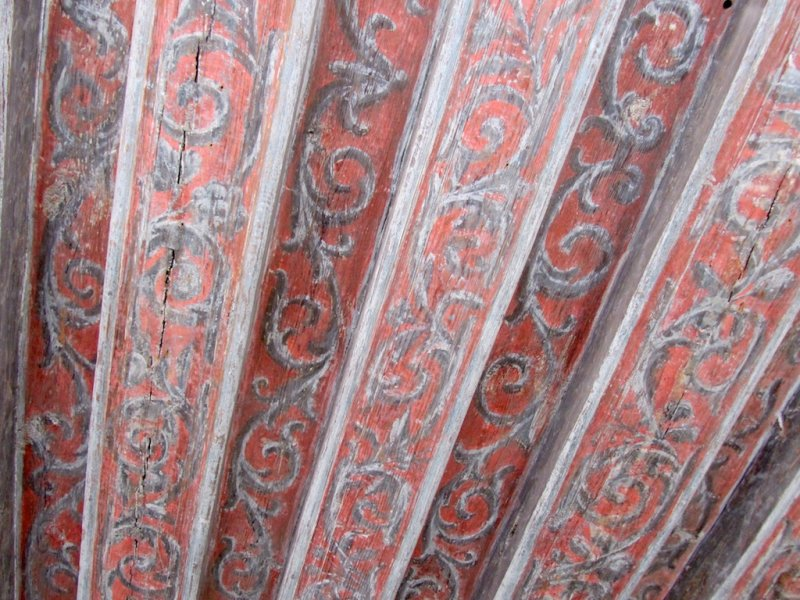 ...including some surviving interiors (heres a painted ceiling)