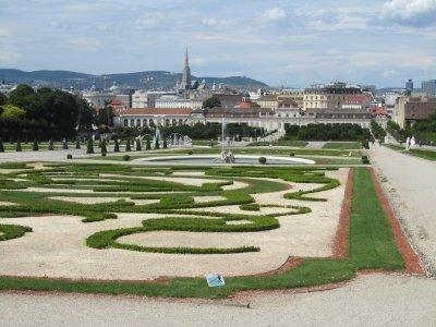 ...in elegant gardens
