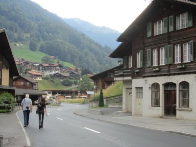 at last we arrive in Lauterbrunnen, in the Bernese Highlands