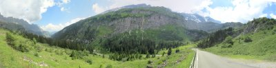 panorama: above the Linth river