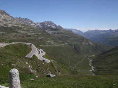 then we start down, into Graubünden and the Vorderrhein