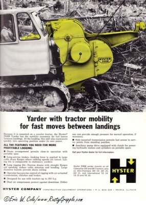 -Hyster Yarder- Tractor Mounted