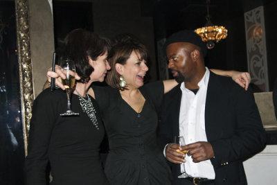 Natalie Young and Ben Okri, prize-winning Writer