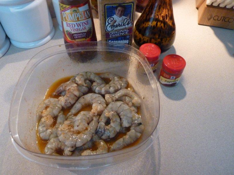 Olive Oil, Vinegar and seasoning