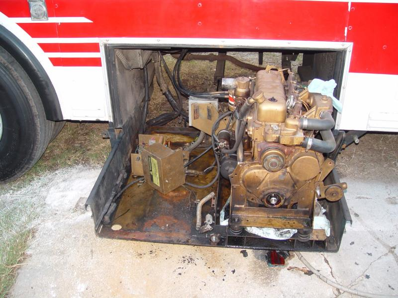 THE START OF THE GENSET MODIFICATION, ALL OF THE OLD COOLING SYSTEM PARTS ARE REMOVED. BE SURE TO CHECK OUT ALL OF THE PHOTOS