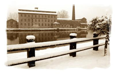 knitting mill in a snow storm....