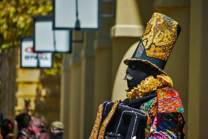 Street performer, Santa Cruz, California, 2012