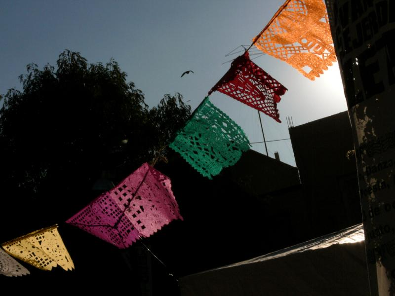 The Day of The Dead Flags, Guanajuato, Mexico, 2005