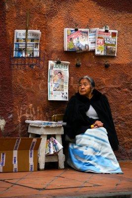 Newspaper vendor, Cuenca, Ecuador, 2011