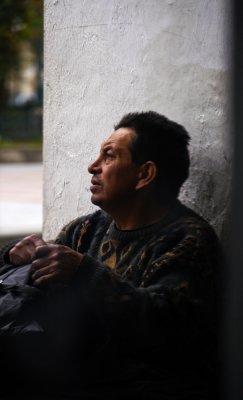 Shoeshine man, Cuenca, Ecuador, 2011
