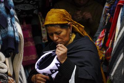 The woman in the golden scarf, Cuenca, Ecuador, 2011