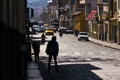 Waiting for the taxi, Cuenca, Ecuador, 2011