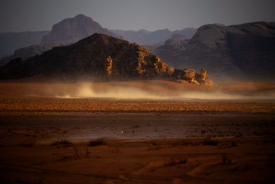 Dust devils, Wadi Rum, Jordan, 2011