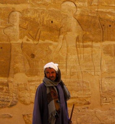 Bedouin tribesman, Habu Temple, Luxor, Egypt, 2011