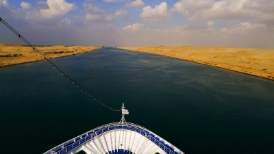 In transit, Suez Canal, Egypt, 2011