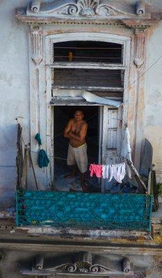 Balcony portrait, Havana, Cuba, 2012