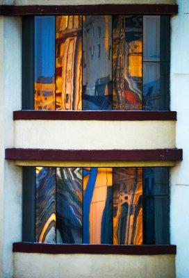 Art Deco reflections, Havana, Cuba, 2012