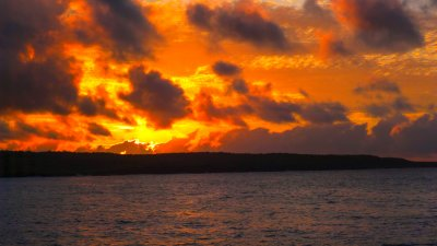 Sunrise off Puerto Ayora, Santa Cruz Island, The Galapagos, Ecuador, 2012