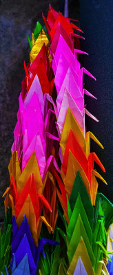 Origami cranes, Forest Lawn Memorial Park, Hollywood Hills, California, 2012