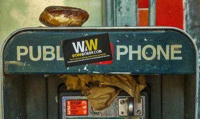 Pay phone, Hollywood, California, 2012